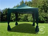 Pop up gazebo FleXtents PRO 3x3 m Green, incl. 4 decorative curtains - 1