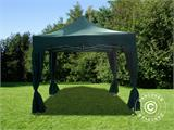 Pop up gazebo FleXtents PRO 3x3 m Green, incl. 4 decorative curtains - 2