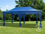 Carpa plegable FleXtents PRO 3x6m Azul, incluye 6 cortinas decorativas - 1