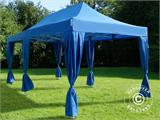 Carpa plegable FleXtents PRO 3x6m Azul, incluye 6 cortinas decorativas - 2