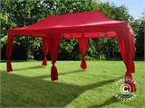 Pop up gazebo FleXtents PRO 3x6 m Red, incl. 6 decorative curtains - 2