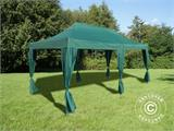 Vouwtent/Easy up tent FleXtents PRO 3x6m Groen, incl. 6 decoratieve gordijnen - 1