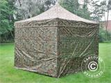 Pop up gazebo FleXtents PRO 3x3 m Camouflage/Military, incl. 4 sidewalls - 1