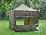 Pop up gazebo FleXtents PRO 3x3 m Camouflage/Military, incl. 4 sidewalls - 2