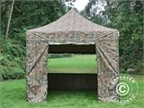 Pop up gazebo FleXtents PRO 3x3 m Camouflage/Military, incl. 4 sidewalls - 4