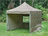 Pop up gazebo FleXtents PRO 3x3 m Camouflage/Military, incl. 4 sidewalls - 5