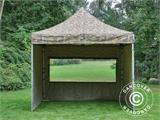 Pop up gazebo FleXtents PRO 3x3 m Camouflage/Military, incl. 4 sidewalls - 7
