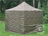 Pop up gazebo FleXtents PRO 3x3 m Camouflage/Military, incl. 4 sidewalls - 13