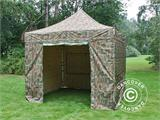 Pop up gazebo FleXtents PRO 3x3 m Camouflage/Military, incl. 4 sidewalls - 14
