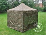 Pop up gazebo FleXtents PRO 3x3 m Camouflage/Military, incl. 4 sidewalls - 16