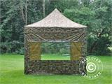 Pop up gazebo FleXtents PRO 3x3 m Camouflage/Military, incl. 4 sidewalls - 18