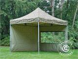 Pop up gazebo FleXtents PRO 3x3 m Camouflage/Military, incl. 4 sidewalls - 20