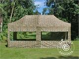 Pop up gazebo FleXtents PRO 3x6 m Camouflage/Military, incl. 6 sidewalls - 1