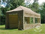 Pop up gazebo FleXtents PRO 3x6 m Camouflage/Military, incl. 6 sidewalls - 2