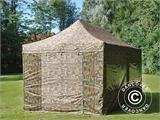 Pop up gazebo FleXtents PRO 3x6 m Camouflage/Military, incl. 6 sidewalls - 3