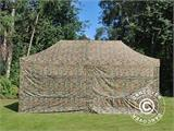 Pop up gazebo FleXtents PRO 3x6 m Camouflage/Military, incl. 6 sidewalls - 4