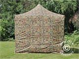Pop up gazebo FleXtents PRO 3x6 m Camouflage/Military, incl. 6 sidewalls - 5