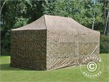 Pop up gazebo FleXtents PRO 3x6 m Camouflage/Military, incl. 6 sidewalls - 6
