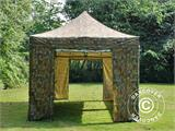 Pop up gazebo FleXtents PRO 3x6 m Camouflage/Military, incl. 6 sidewalls - 7