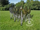 Pop up gazebo FleXtents PRO 3x6 m Camouflage/Military, incl. 6 sidewalls - 11