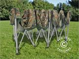 Pop up gazebo FleXtents PRO 3x6 m Camouflage/Military, incl. 6 sidewalls - 12