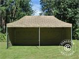 Pop up gazebo FleXtents PRO 3x6 m Camouflage/Military, incl. 6 sidewalls - 16