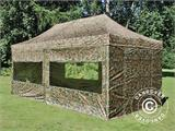 Pop up gazebo FleXtents PRO 3x6 m Camouflage/Military, incl. 6 sidewalls - 21