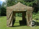 Pop up gazebo FleXtents PRO 3x6 m Camouflage/Military, incl. 6 sidewalls - 22