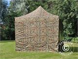 Pop up gazebo FleXtents PRO 3x6 m Camouflage/Military, incl. 6 sidewalls - 24