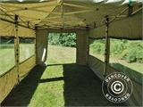 Pop up gazebo FleXtents PRO 3x6 m Camouflage/Military, incl. 6 sidewalls - 25