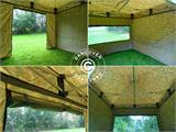 Pop up gazebo FleXtents PRO 3x6 m Camouflage/Military, incl. 6 sidewalls - 26