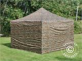 Pop up gazebo FleXtents PRO 4x4 m Camouflage/Military, incl. 4 sidewalls - 1