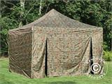 Pop up gazebo FleXtents PRO 4x4 m Camouflage/Military, incl. 4 sidewalls - 2
