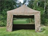 Pop up gazebo FleXtents PRO 4x4 m Camouflage/Military, incl. 4 sidewalls - 3