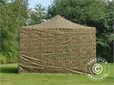 Pop up gazebo FleXtents PRO 4x4 m Camouflage/Military, incl. 4 sidewalls - 4