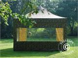 Pop up gazebo FleXtents PRO 4x4 m Camouflage/Military, incl. 4 sidewalls - 5