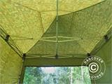 Pop up gazebo FleXtents PRO 4x4 m Camouflage/Military, incl. 4 sidewalls - 9