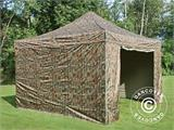 Pop up gazebo FleXtents PRO 4x4 m Camouflage/Military, incl. 4 sidewalls - 14