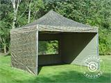 Pop up gazebo FleXtents PRO 4x4 m Camouflage/Military, incl. 4 sidewalls - 16