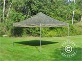 Pop up gazebo FleXtents PRO 4x4 m Camouflage/Military, incl. 4 sidewalls - 18
