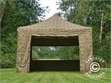 Pop up gazebo FleXtents PRO 4x4 m Camouflage/Military, incl. 4 sidewalls - 20