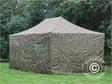 Pop up gazebo FleXtents PRO 4x6 m Camouflage/Military, incl. 8 sidewalls - 1