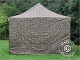 Pop up gazebo FleXtents PRO 4x6 m Camouflage/Military, incl. 8 sidewalls - 2