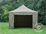 Pop up gazebo FleXtents PRO 4x6 m Camouflage/Military, incl. 8 sidewalls - 3