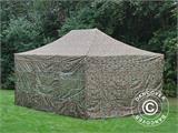 Pop up gazebo FleXtents PRO 4x6 m Camouflage/Military, incl. 8 sidewalls - 4