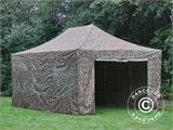 Pop up gazebo FleXtents PRO 4x6 m Camouflage/Military, incl. 8 sidewalls - 5
