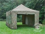 Pop up gazebo FleXtents PRO 4x6 m Camouflage/Military, incl. 8 sidewalls - 7