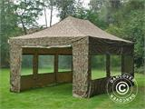 Pop up gazebo FleXtents PRO 4x6 m Camouflage/Military, incl. 8 sidewalls - 8