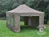 Pop up gazebo FleXtents PRO 4x6 m Camouflage/Military, incl. 8 sidewalls - 12