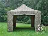 Pop up gazebo FleXtents PRO 4x6 m Camouflage/Military, incl. 8 sidewalls - 13